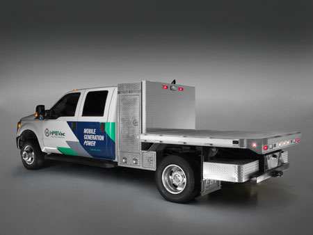 By Adding A Generator To Our Electric Load Ist Cool Technologies Ultimate Work Truck Uwt Provides Up 300 Kva Of Mobile